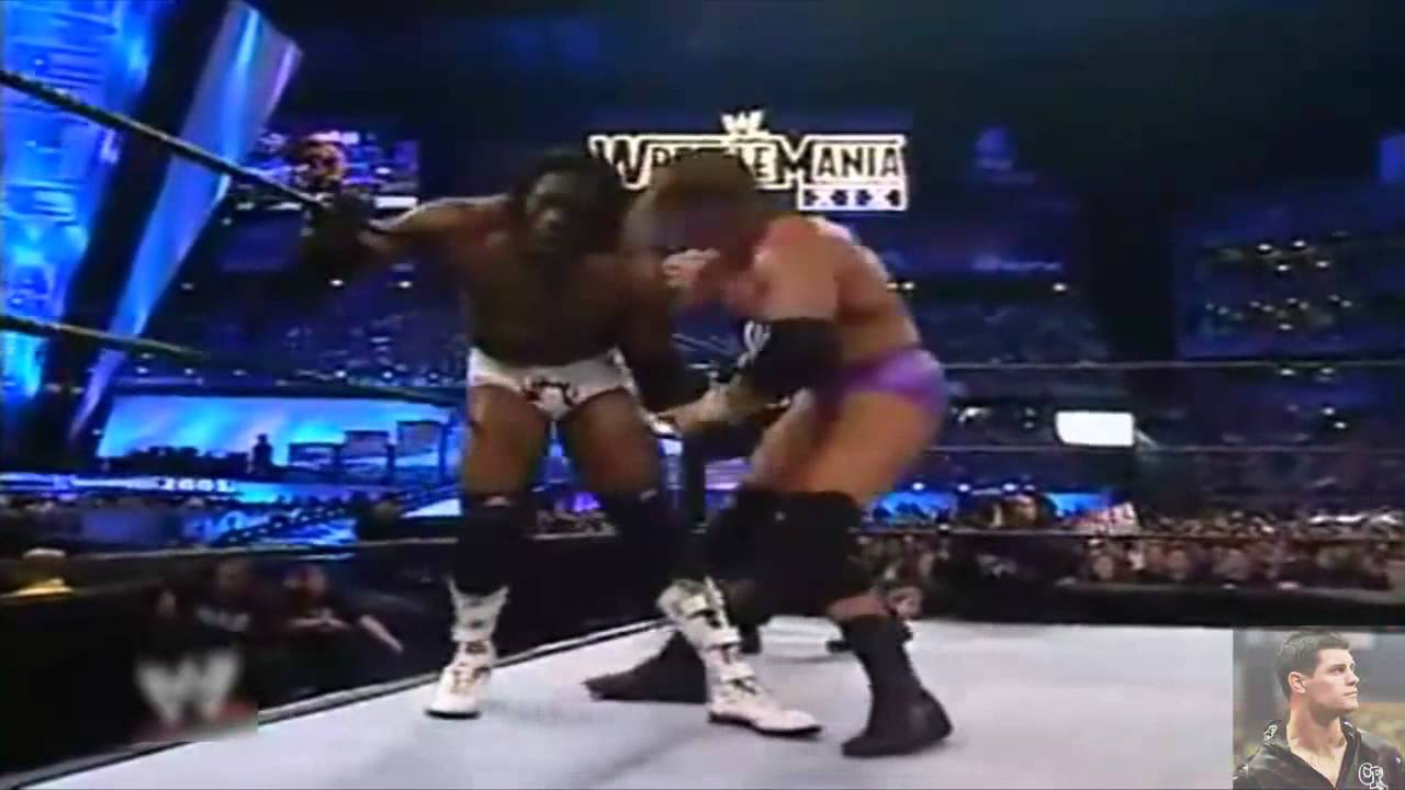 Photo of Tripal H Vs Bookr T At Wrestlmania 2003