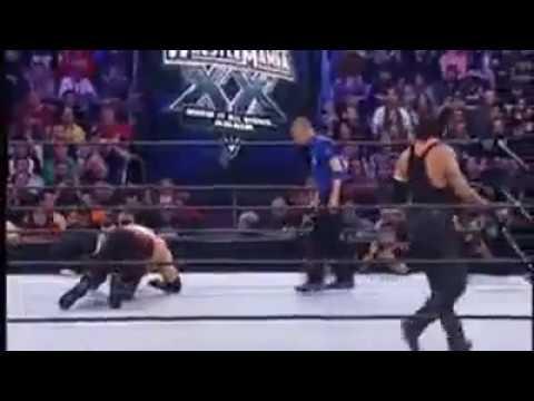 Photo of The Undertaker Vs Kane At Wrestlmania 2004