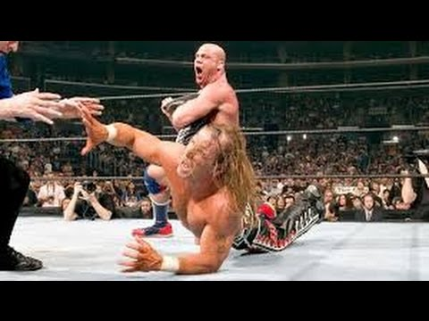 Photo of Kurt Angle Vs Shawn Michles At Wrestlmania 2005