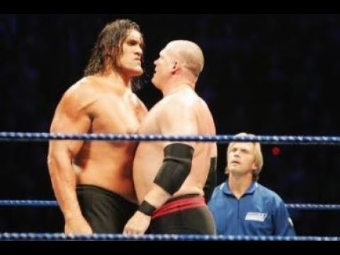 Photo of Great Khali Vs Kane At Wrestlmania 2007