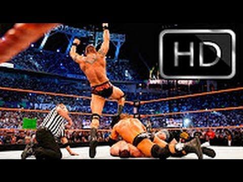 Photo of John Cena Vs Tripal H Vs Randy At Wrestlmania 2008