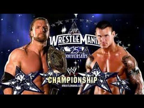 Photo of Tripal H Vs Randy Orton at Wrestlmania 2009