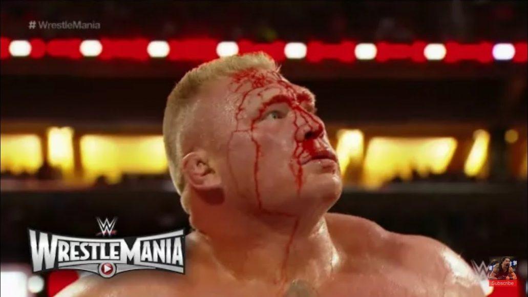 Photo of Roman Riengs Vs Brock Lesner At Wrestlmania 2015