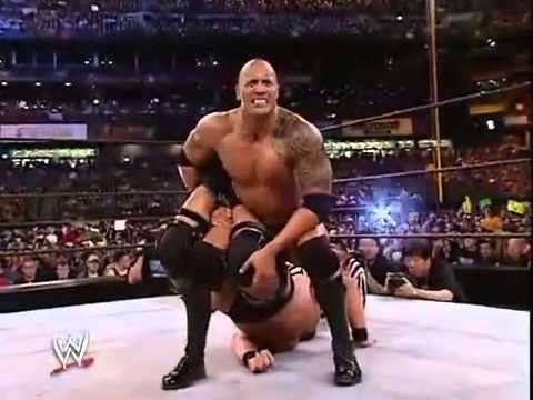 Photo of The Rock Vs Stone Cold Stev Astin At Wrestlmania 2003