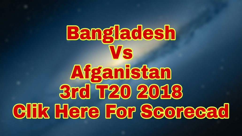 Photo of Afghanistan Beat Bangladesh In 3rd T20 And Win Series 3-0
