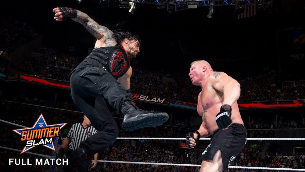 Photo of FULL MATCH – Lesnar vs. Reigns vs. Joe vs. Strowman – Universal Title Fatal 4-Way – SummerSlam 2017