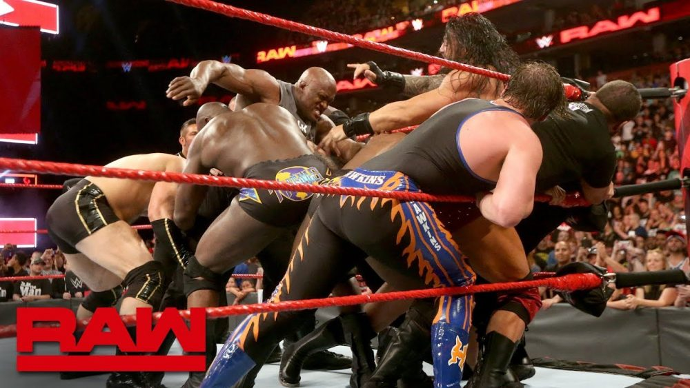 Photo of Roman Reigns and Bobby Lashley cause chaos before Extreme Rules: Raw, July 9, 2018