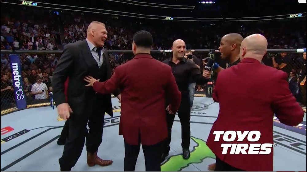 Photo of UFC 226: Daniel Cormier and Brock Lesnar Octagon Interviews