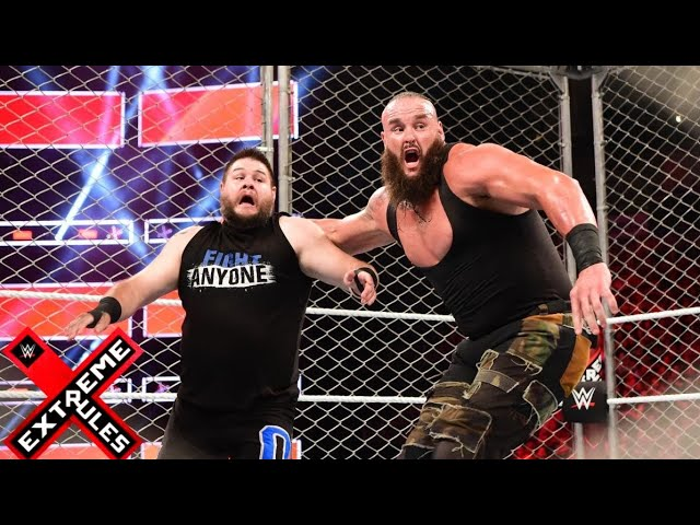 Photo of Braun Strowman vs Kevin Owens Steel Cage Match at Extreme Rules 2018