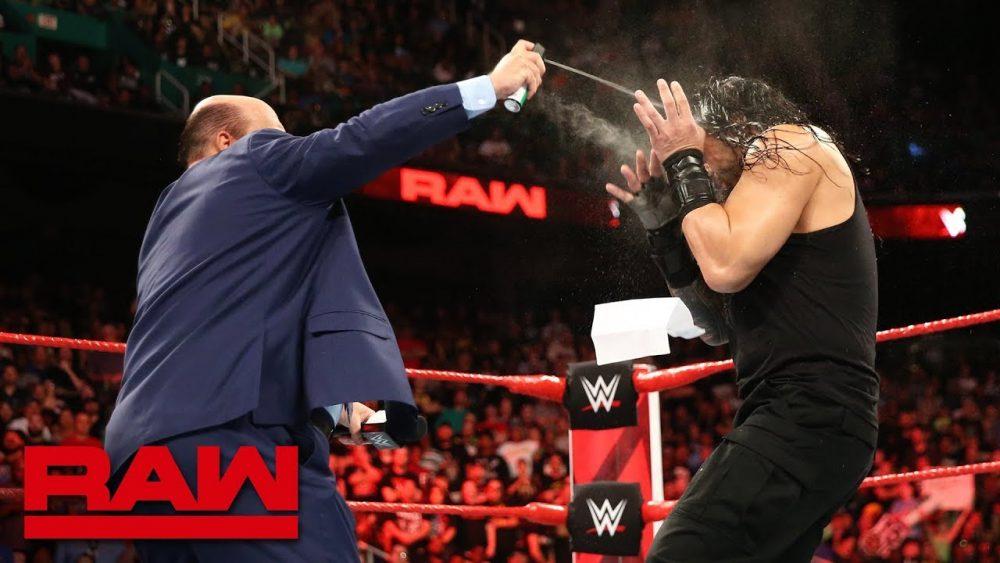 Photo of Paul Heyman and Brock Lesnar ambush Roman Reigns: Raw, Aug. 13, 2018